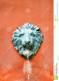 Outdoor Lion Statue by Outdoor Lion Garden Fountain Stock Photo Image 62073201