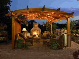 Deck Roof Ideas Home Decorating - fantastic decorating ideas of outdoor living room for night