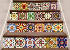 mexican tile bathroom designs new home decor ideas talavera bathroom tile sticker set of 24