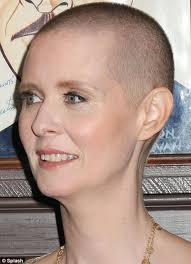 how to grow out hair after cancer the first shoots of recovery cynthia nixon s hair begins to grow