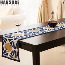 dining room table runner decoration elegant table runners navy blue and white damask table