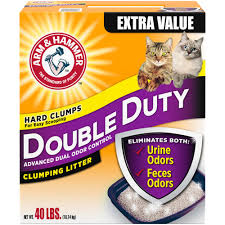 arm u0026 hammer double duty advanced odor control clumping cat litter