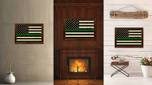 American Flag Home Decor Thin Green Line Support Border Patrol American Usa Vintage Flag