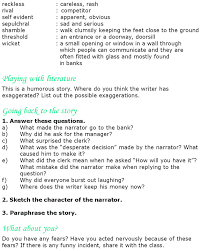 grade 8 reading lesson 23 short stories my bank account 4