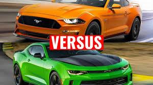 ford mustang chevy camaro 2018 ford mustang vs chevy camaro