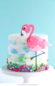 cake how to flamingo cake