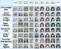 acnl hair guide hair color guide tumblr