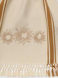 soleil embroidered tea towel attic sale linens u0026 kitchen attic