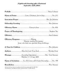 knightdale baptist church sept 27 2015 worship bulletin