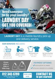 entry 7 by corinapitos for create a flyer for a mobile laundry