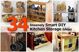 Kitchen Ideas Diy 34 Insanely Smart Diy Kitchen Storage Ideas