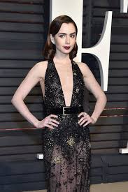 Movie Star Vanity Oscars 2017 Lily Collins Is All About The Face At The Vanity Fair