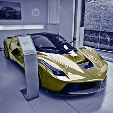 cars ferrari gold gold laferrari madwhips