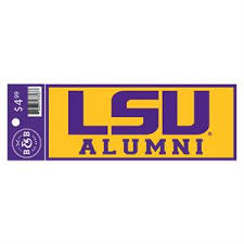 lsu alumni sticker lsu tigers alumni sticker decal 6 x 2 25