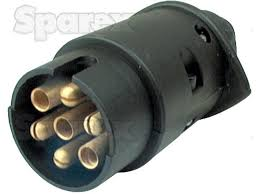 s 31355 7 pin trailer plug male with spade connectors plastic