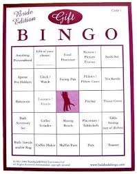 bridal shower gift bingo bridal shower gift bingo for 50 guests bingo