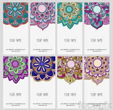 Design Patterns For Cards 8 National Design Patterns Card Vector Cultural Y étnico