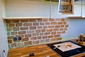 kitchen brick backsplash great idea of brick backsplash kitchen with brown countertop 8801