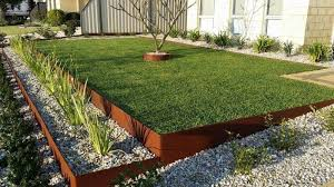 landscape edging not only serves as a barrier between gardens