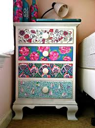 furniture makeovers drawers bright colours and dresser