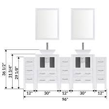 modern bathroom vanity set with mirror and sink lv2 c20 96 w white