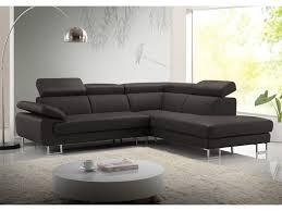 vente unique com canapé canapé d angle en cuir de vachette 5 coloris colisee