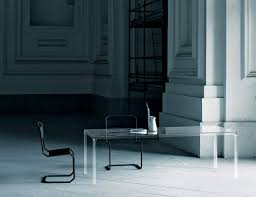 Contemporary Italian Dining Table Glas Italia Oscar Contemporary Italian Dining Table In Transparent