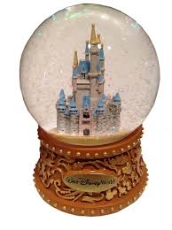 snow globe cinderella castle walt disney world