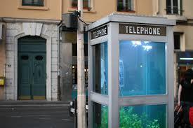telephone booth aquarium telephone booth in