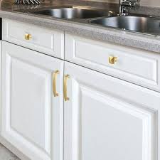 white kitchen cabinets with gold pulls brushed brass gold cabinet knobs solid square 1 2inch width ls8791gd