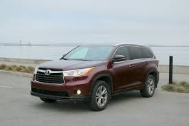 2015 toyota highlander xle review 2014 2015 toyota highlander xle 7 seat crossover review and road