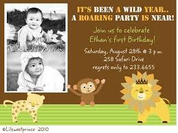 birthday invitation wording jungle theme invitation ideas