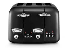 Delonghi Four Slice Toaster Delonghi Ct04 Bk1 Argento Classic Black 4 Slice Toaster Sda302 Ebay