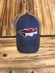 North Carolina Flag North Carolina Flag Fish Trucker Hat Blue Krazy Mikez