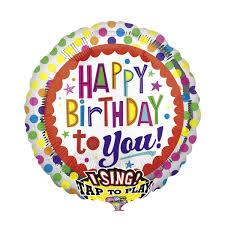birthday helium balloons singing helium balloon happy birthday gifts co uk