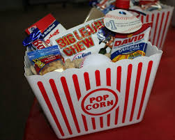 Personalized Cracker Jack Boxes Baseball Party Favors In Dollar Tree Popcorn Bucket 1 Small