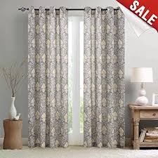 vintage bedroom curtains amazon com vintage damask print bedroom curtains 2 panel set linen