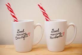 Beautiful Coffee His U0026 Hers Coffee Mugs Good Morning Beautiful And
