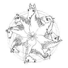 coloriage cheval mandala a imprimer gratuit