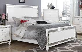 homelegance alonza bedroom set with led lighting brilliant white homelegance alonza panel bed white