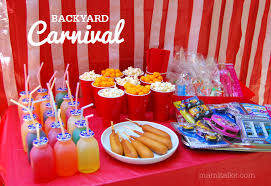 Carnival Themed Table Decorations Backyard Carnival Ideas And Decorations Mami Talks