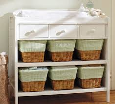 Basket Changing Table Wooden Changing Table Ultimate Pottery Barn