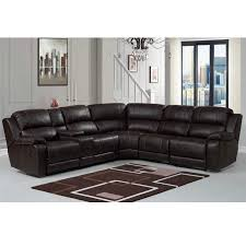 Sectional Sofas With Recliners And Cup Holders Amazon Com Pulaski Charlotte Reclining Faux Leather Sectional