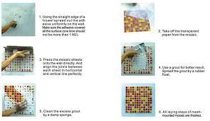 Mosaic Tile Installation Globalbridge Information Mosaic Tile Installation Step Description