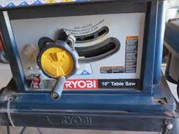 10 inch table saw ryobi ryobi 10 piece combo table saw drill