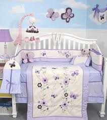 amazon com soho lavender flower garden baby crib nursery bedding