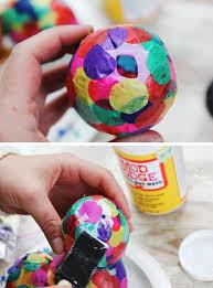 papier mache easter eggs diy paper mache confetti eggs hello glow