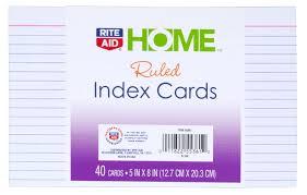 rite aid index cards 40ct rite aid