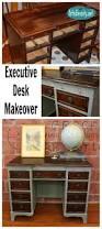 Ballard Design Desk Art Is Beauty Beat Up Desk Gets And Executive Makeover