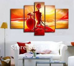 free shipping oil painting violin lady happy moment figure